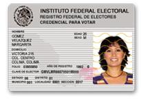 México Credencial Del Elector Anverso