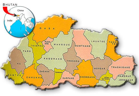 AceprojectorgeroenregionsasiaBTbhutanmapm - Bhutan map quiz